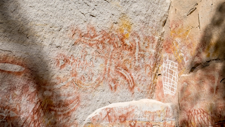 Carnarvon Gorge's rock art sites are believed to have been in use for over 3500 years with connection to the Bidjara and Karingbal Aboriginal people.